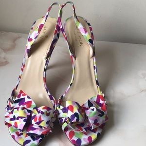 kate spade bow slingback Stiletto sandals Sz 10.5.